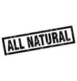 square grunge black all natural stamp