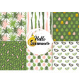 summer nature seamless patterns vector image vector image