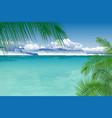 tropical ocean landscape vector image vector image