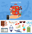 vacation and tourism banner vector image vector image