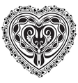Valentine Day tatto heart vector image