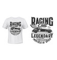 vintage racing car t-shirt print mockup vector image vector image