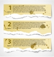 Vintage torn paper progress option labels vector image vector image