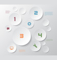 white circular business infographic design vector image vector image
