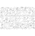 Zentangle stylized background for Thanksgiving day vector image vector image
