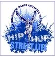 hip hop dancer on white background vector image