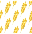 Ripe golden wheat in a seamless pattern vector image