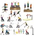 Disable Handicap Sport Paralympic Games Stick vector image
