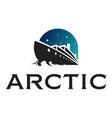 icebreaker ship logotype vector image