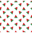 3d stylized watermelon seamless pattern on white vector image