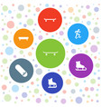 7 skater icons vector image vector image