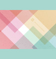 abstract geometric pattern pastel color vector image vector image