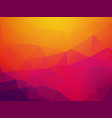 abstract orange purple sunset polygonal background vector image vector image