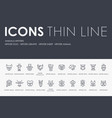 animals hipsters thin line icons vector image