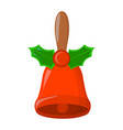 bell xmas isolated icon cartoon style for vector image