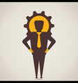 big gear back of businessmen head vector image vector image