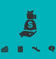 bribe icon icon flat vector image