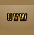 bulb light font on wood pattern vector image
