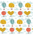 cartoon flat seamless pattern with hot air vector image