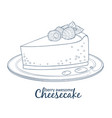 cheesecake with raspberry icon isolated on white vector image