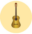 clasic guitar natural wood icon eps10 vector image