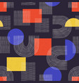 contemporary seamless pattern with aesthetic hand