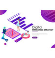 digital marketing strategy landing webpage vector image