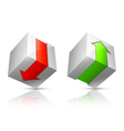 Download and upload icons vector image vector image