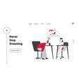emotional burnout website landing page hard work vector image vector image