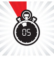 five minute stop watch countdown vector image vector image