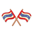 Flags of Thailand icon cartoon style vector image vector image
