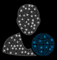 flare mesh network global manager with spots vector image vector image