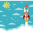 Flying Rocket with space for text vector image