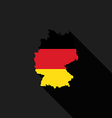Germany flag map flat design vector image vector image