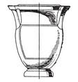 greek krater has columnar handles vintage vector image vector image