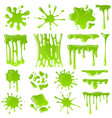 green slime goo blob splashes toxic dripping vector image