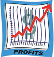 growing graph icon dollar sign vector image vector image