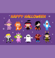 halloween kid costume set vector image