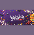 happy halloween banners party invitation vector image