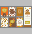 happy thanksgiving card template vector image vector image