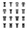 historic pillar icons vector image vector image