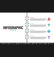 infographic design template with business concept vector image