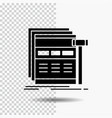 internet page web webpage wireframe glyph icon on vector image vector image