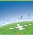 johannesburg skyline flight destination vector image vector image