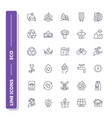 line icons set eco pack vector image vector image