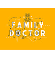 Medicine concept family vector image