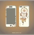 mobile phone cover back and screen vector image vector image