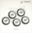 Modern gear design template vector image