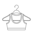 monochrome silhouette shirt top for women in vector image vector image