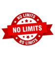 no limits ribbon no limits round red sign no vector image vector image